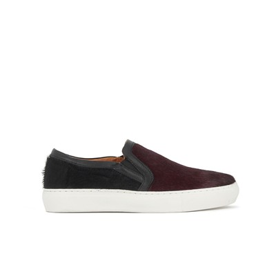 Slip-on en cuir - bicolore
