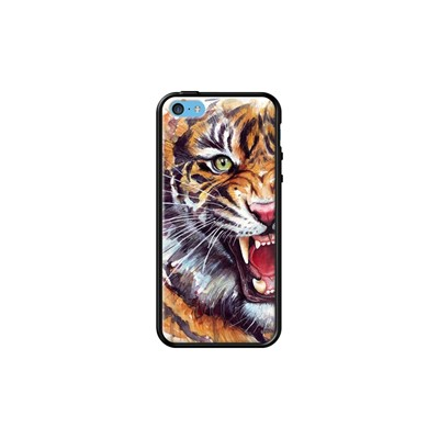 The Kase angry tiger - coque pour iphone 5c - noir