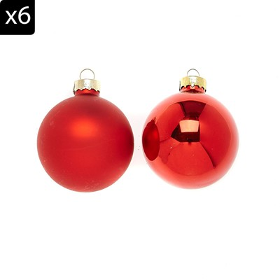 Home And styling 12 boules pour sapin - rouge