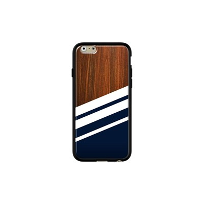 Wooden navy - Coque iPhone 6 - 6s - noir