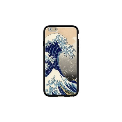 Vague d'Hokusai - Coque iPhone 6 - 6s - noir