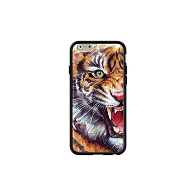Angry tiger - Coque iPhone 6 - 6s - noir