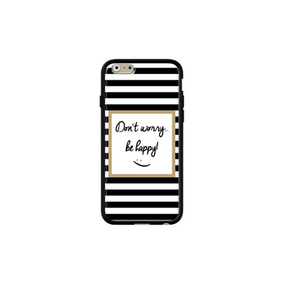 Don' worry be happy - Coque iPhone 6 - 6s - noir