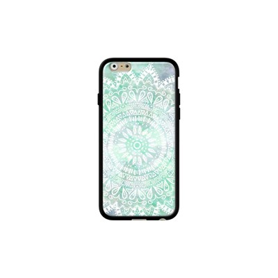 Bohemian flower mandala - Coque iPhone 6 - 6s - noir