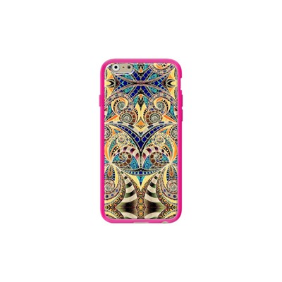 Drawing Floral Zentangle G38 - Coque pour iPhone 6/6S - rose