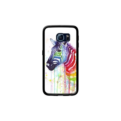 S6 Kase Ode Edge Stripes Watercolor Coque Noir Zebra Pour The Samsung Fruit To Galaxy ZTWqRZPn