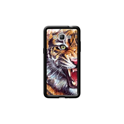 Prime Grand Samsung Coque Kase G530 The Angry Tiger Galaxy Noir Pour Hqgx7n