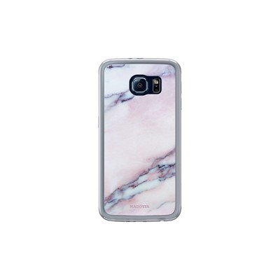 Samsung Kase Pour Pink Marble Galaxy Coque S6 The Transparent 4wqf4