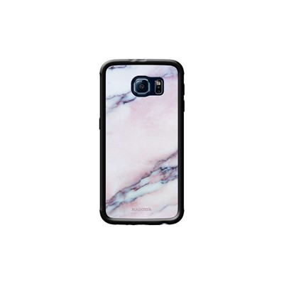Pink Kase Noir Samsung Coque Galaxy S6 Pour Marble The PqBWvRR