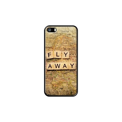 Fly away-2 - Coque pour iPhone 5/5S/SE - noir