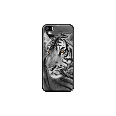 The Eyes of The Tiger - Coque pour iPhone 5/5S/SE - noir