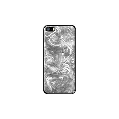 Black and White Marble Effect - Coque pour iPhone 5/5S/SE - noir