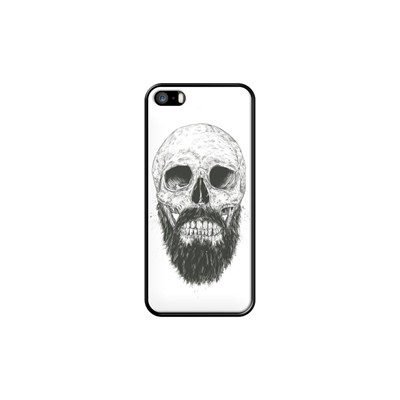 Beard is not dead - Coque pour iPhone 5/5S/SE - noir