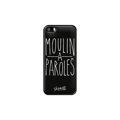Moulin à Paroles - Coque pour iPhone 5/5S/SE - noir