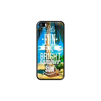Bright Summer Sun - Coque pour iPhone 5/5S/SE - noir