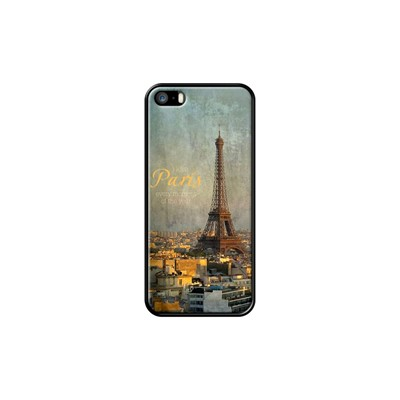 I love Paris - Coque pour iPhone 5/5S/SE - noir