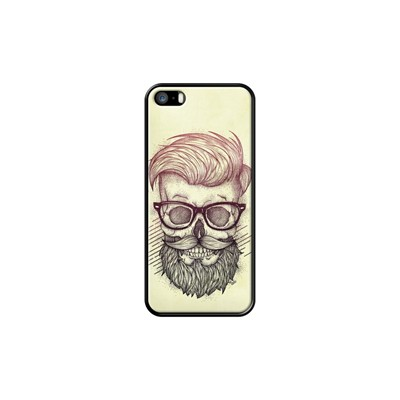 Hipster is Dead - Coque pour iPhone 5/5S/SE - noir