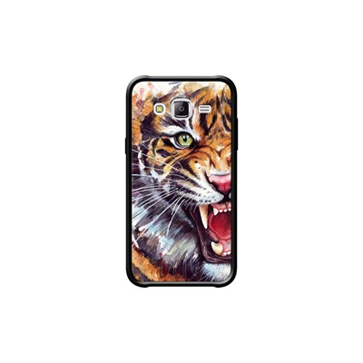 The Kase angry tiger watercolor - coque pour samsung  galaxy j5 - noir