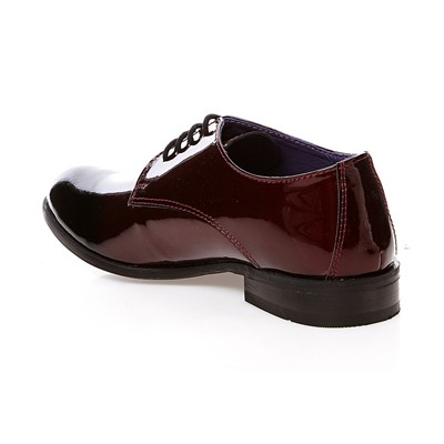 Derbies en cuir vernis - bordeaux