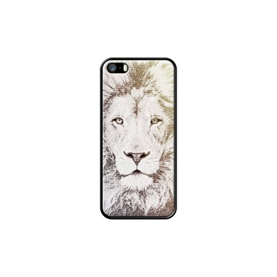 The Intellectual Lion - Coque pour iPhone 5/5S/SE - noir