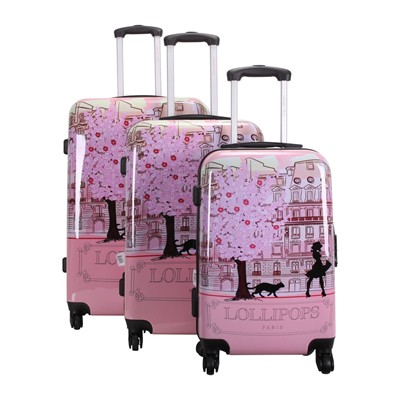 Lollipops Ensemble de 3 valises 55/65/75 cm - rose clair