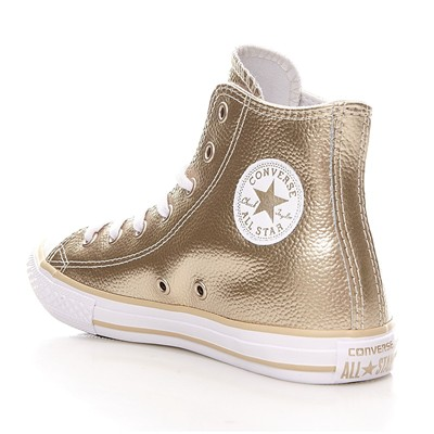 CTAS HI LIGHT GOLD/WHITE/WHITE - Baskets en cuir - or