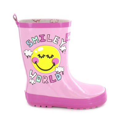 Smiley - Bottes - rose