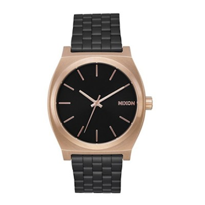 Time Teller - Style casual - Noir / Or rose