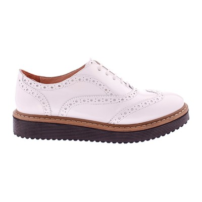 Derbies en cuir - blanc