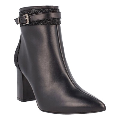 Bottines en cuir - noir