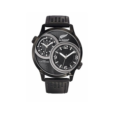 All Blacks montre en cuir - noir