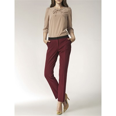 NIFE Pantalon - bordeaux