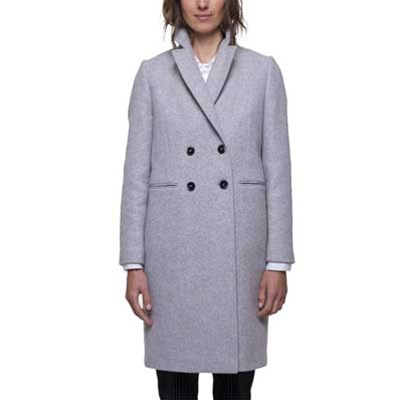 Gris Coat And Brandalley Clair Manteau En Trench Laine Mélangée qY5SOzxd