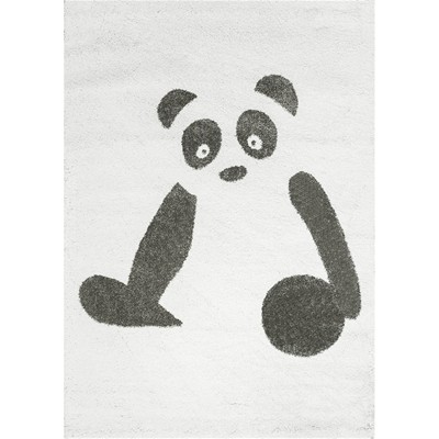 Art For kids panda - tapis - anthracite