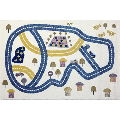Art For kids circuit - tapis - bleu