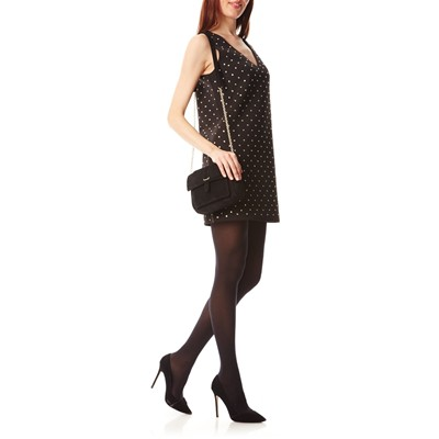 FRENCH CONNECTION Robe droite avec strass - noir