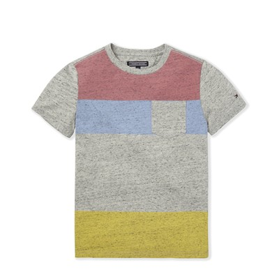 Beach stripe CN - T-shirt - gris clair