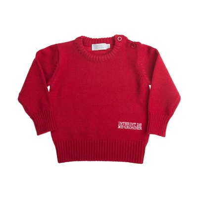 Safari - Pull fille - rouge