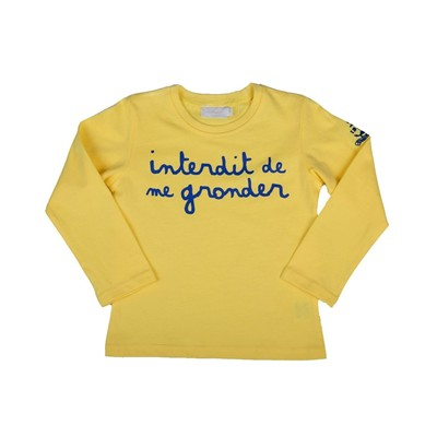 Navy - T-shirt - jaune
