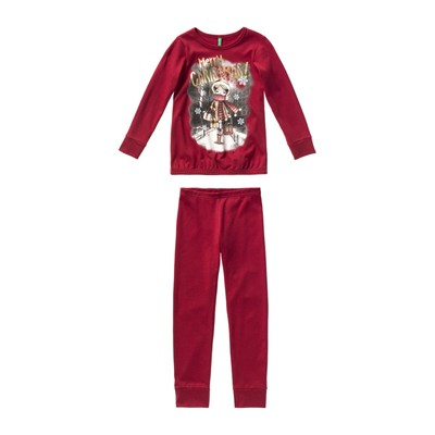 Ensemble sweat-shirt et pantalon - rouge