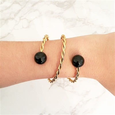 Bracelet en or avec agate - or