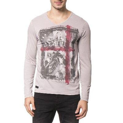 American People Camiseta de manga larga - gris