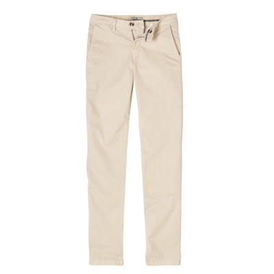 Flash - Pantalon chino coton émerisé - beige