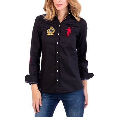 Polo Club Camisa casual - negro