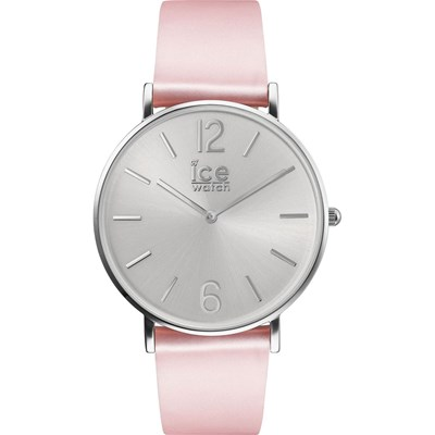 Ice City - Montre en cuir - rose clair