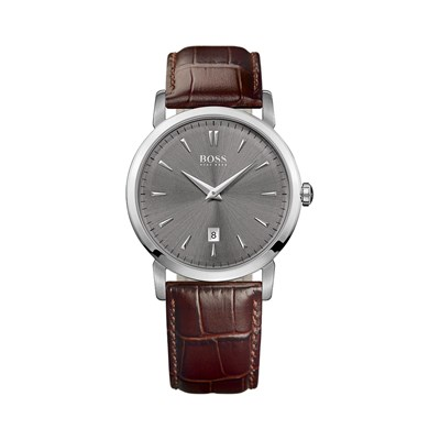 Boss Montre en cuir - marron