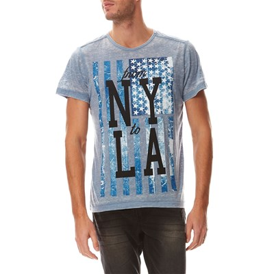 Best Mountain burn out - t-shirt - bleu