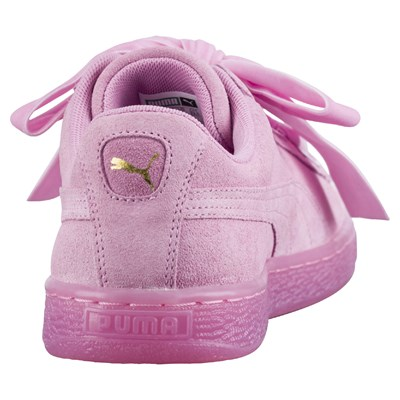 Puma Heart Sneakers in pelle scamosciata rosa | BrandAlley