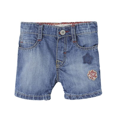 Rosa - Short - denim bleu