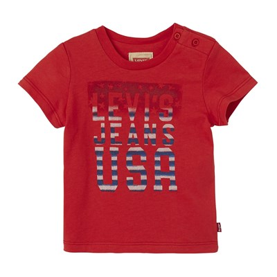 USA - T-shirt - rouge